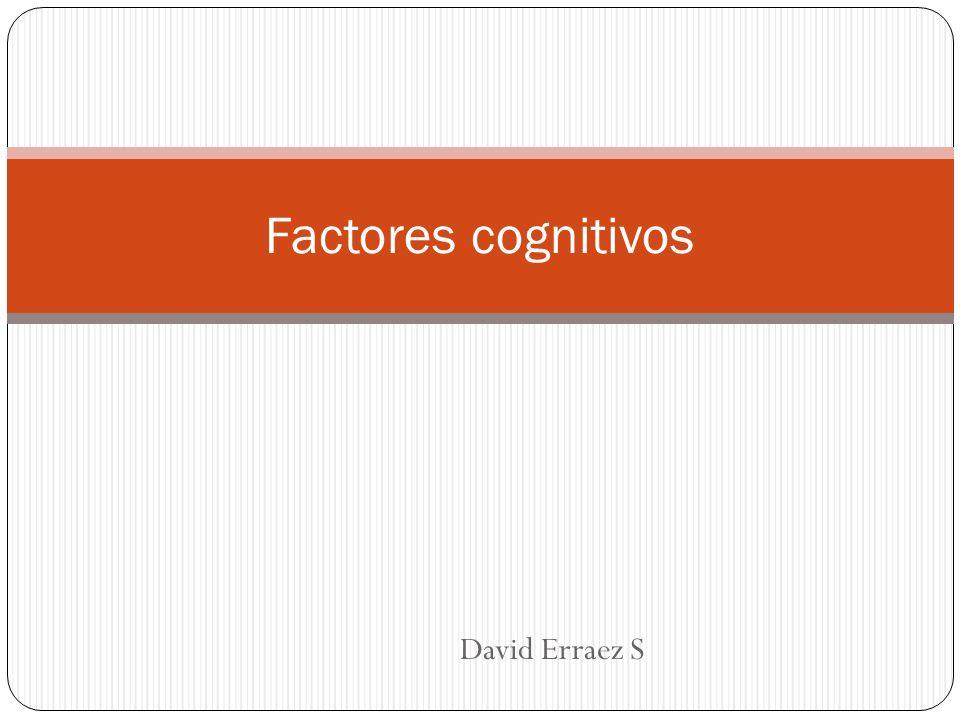 Factores cognitivos David Erraez S