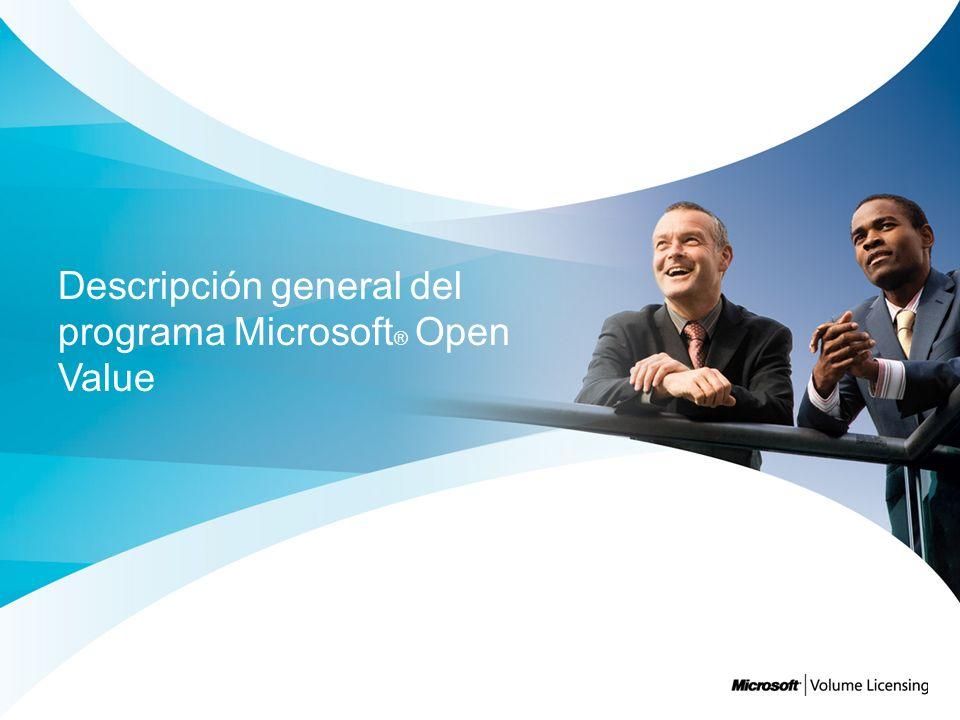 Descripción general del programa Microsoft® Open Value