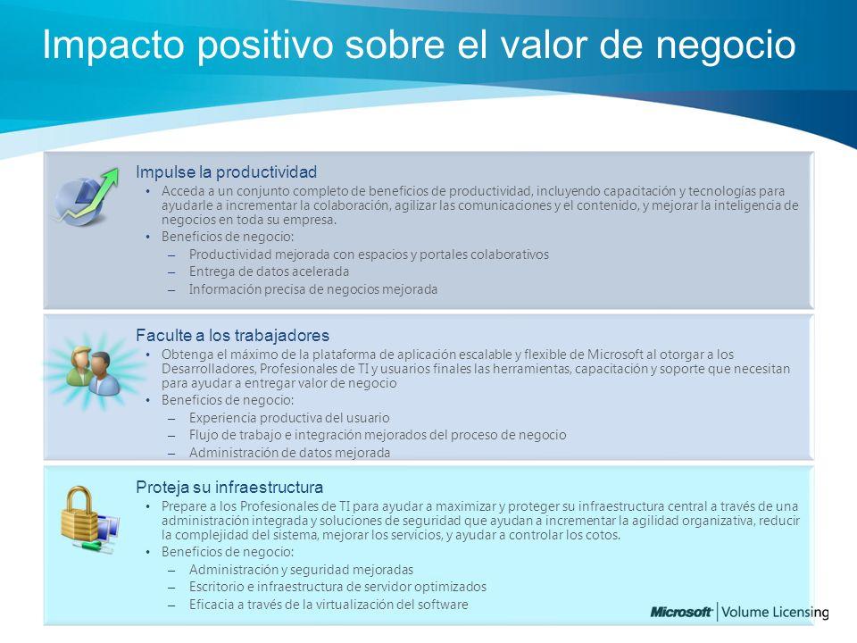 Impacto positivo sobre el valor de negocio