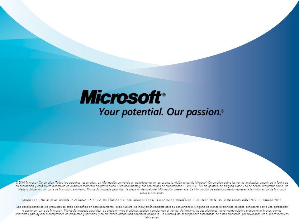 © 2010 Microsoft Corporation. Todos los derechos reservados
