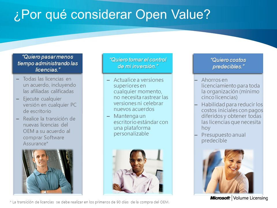 ¿Por qué considerar Open Value