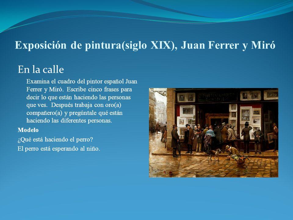 Exposición de pintura(siglo XIX), Juan Ferrer y Miró