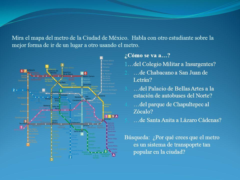 Mira el mapa del metro de la Ciudad de México