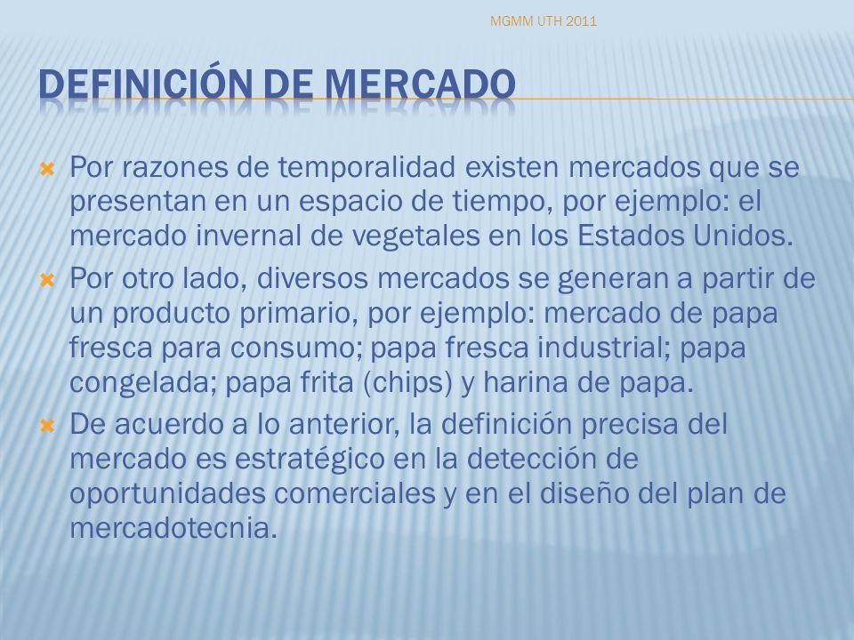 MGMM UTH 2011 Definición de mercado.