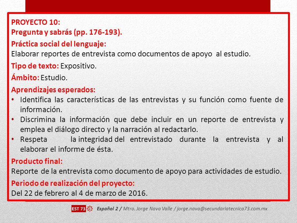 Pregunta y sabrás (pp. 176-193). Práctica social del lenguaje: