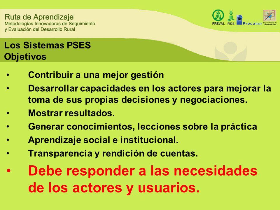 Los Sistemas PSES Objetivos