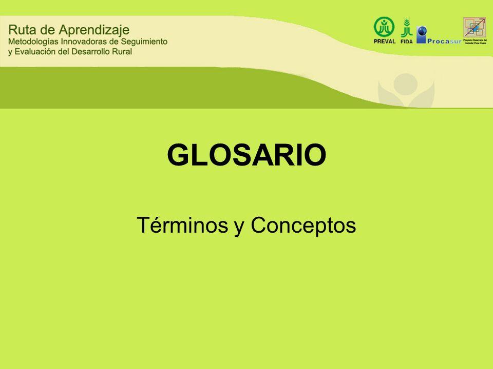 GLOSARIO Términos y Conceptos