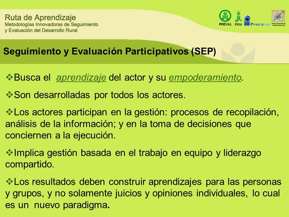 Seguimiento y Evaluación Participativos (SEP)
