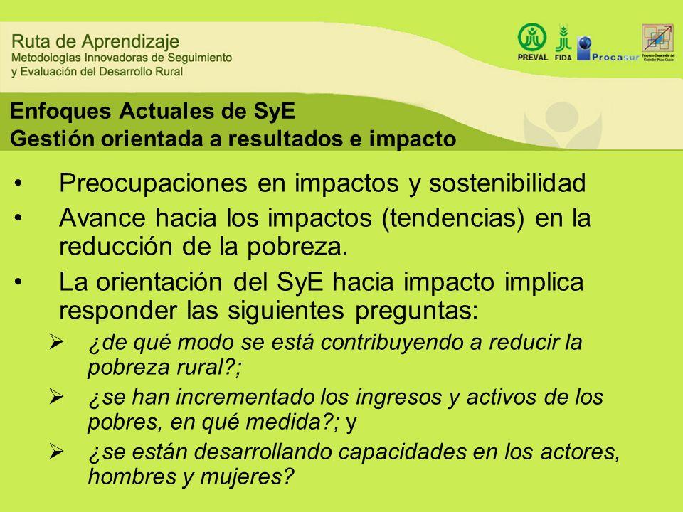 Enfoques Actuales de SyE Gestión orientada a resultados e impacto