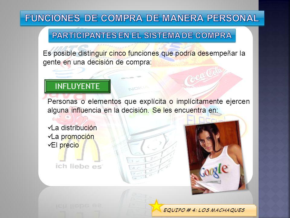 FUNCIONES DE COMPRA DE MANERA PERSONAL
