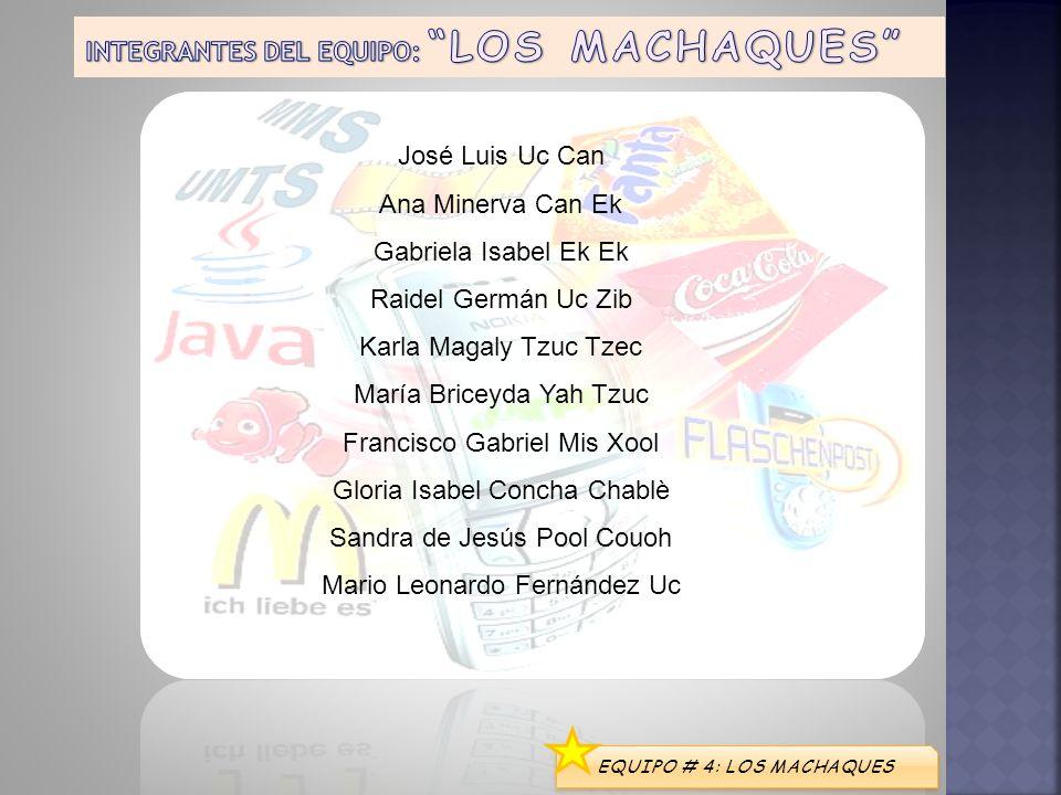 INTEGRANTES DEL EQUIPO: LOS MACHAQUES