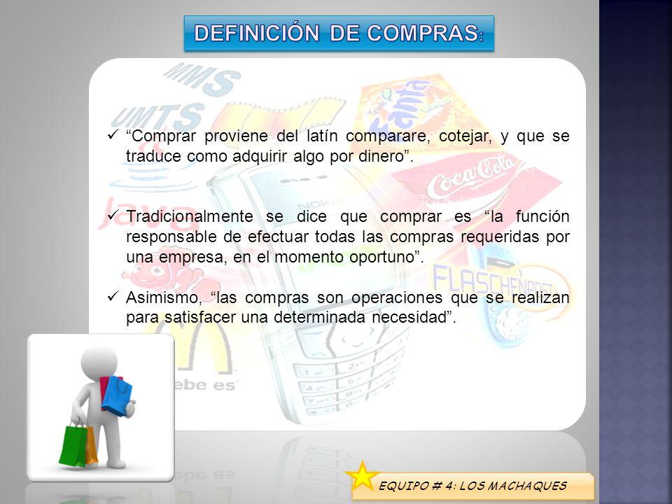 DEFINICIÓN DE COMPRAS: