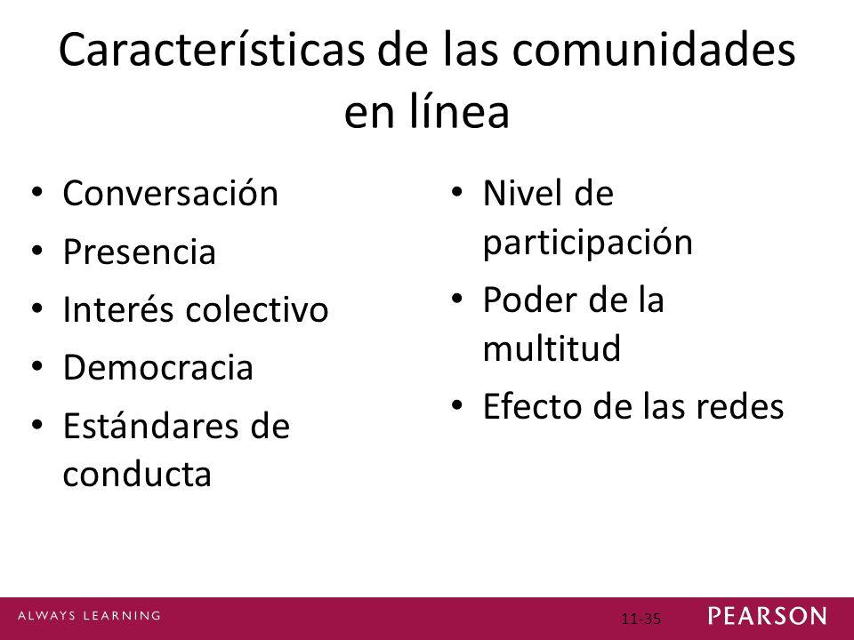 Características de las comunidades en línea