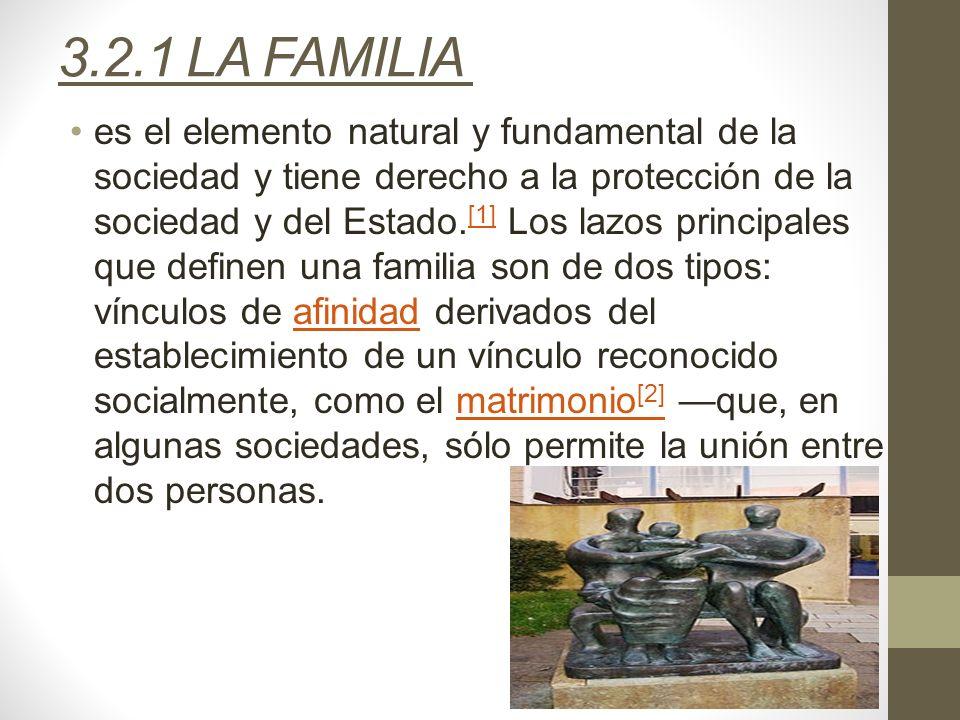 3.2.1 LA FAMILIA