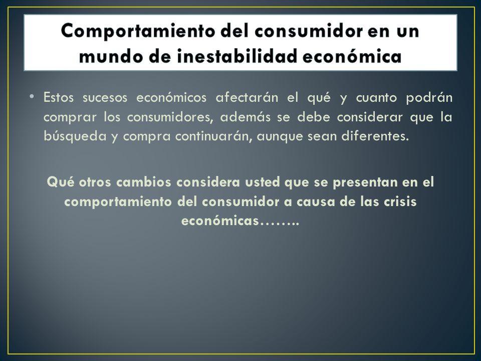 Comportamiento del consumidor en un mundo de inestabilidad económica