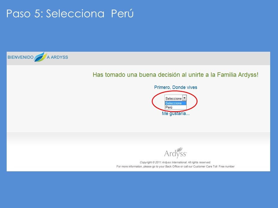 Paso 5: Selecciona Perú