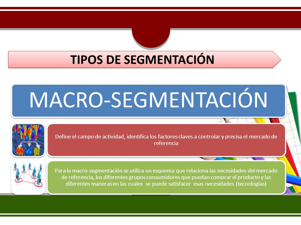 MACRO-SEGMENTACIÓN TIPOS DE SEGMENTACIÓN
