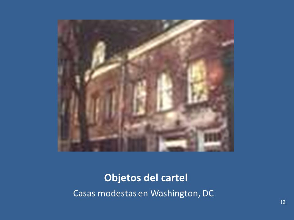 Casas modestas en Washington, DC