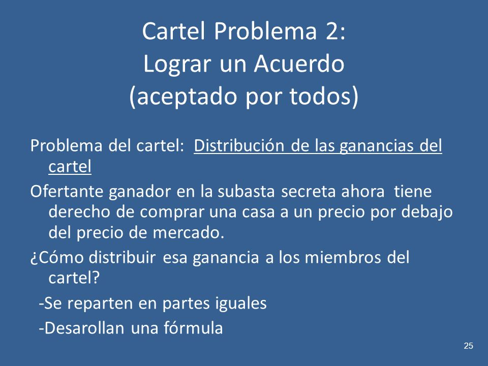 Cartel Problema 2: Lograr un Acuerdo (aceptado por todos)