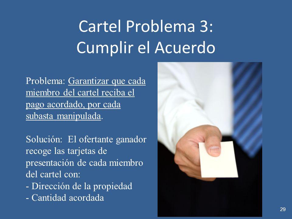 Cartel Problema 3: Cumplir el Acuerdo