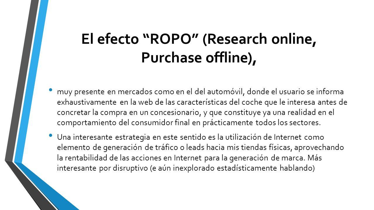El efecto ROPO (Research online, Purchase offline),