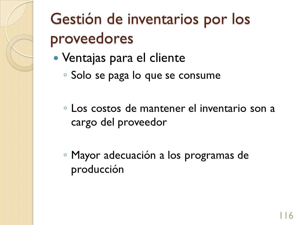 Gestión de inventarios por los proveedores