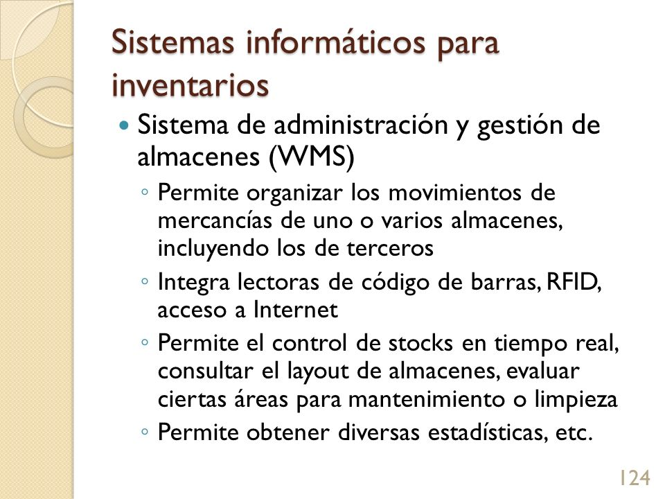 Sistemas informáticos para inventarios