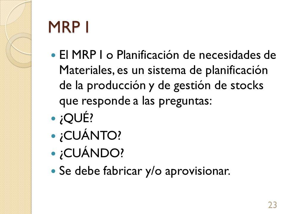MRP I