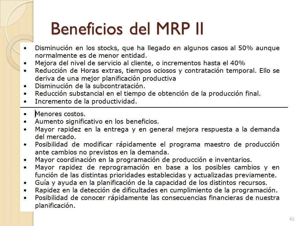 Beneficios del MRP II