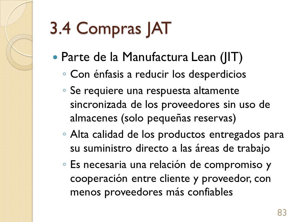 3.4 Compras JAT Parte de la Manufactura Lean (JIT)