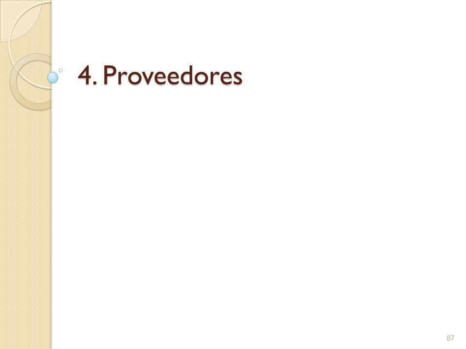 4. Proveedores