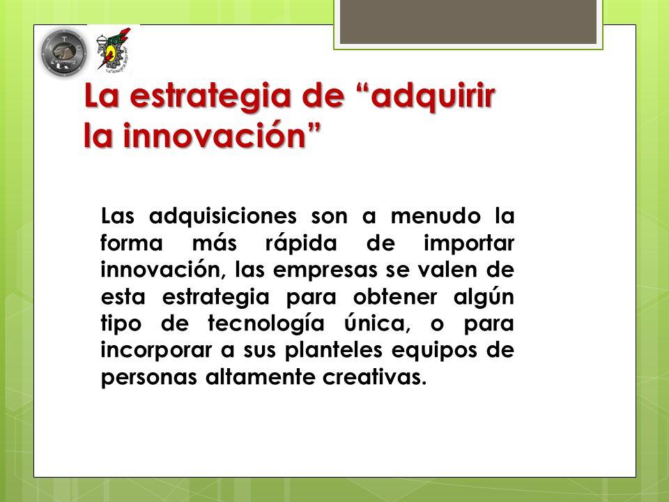 La estrategia de adquirir la innovación