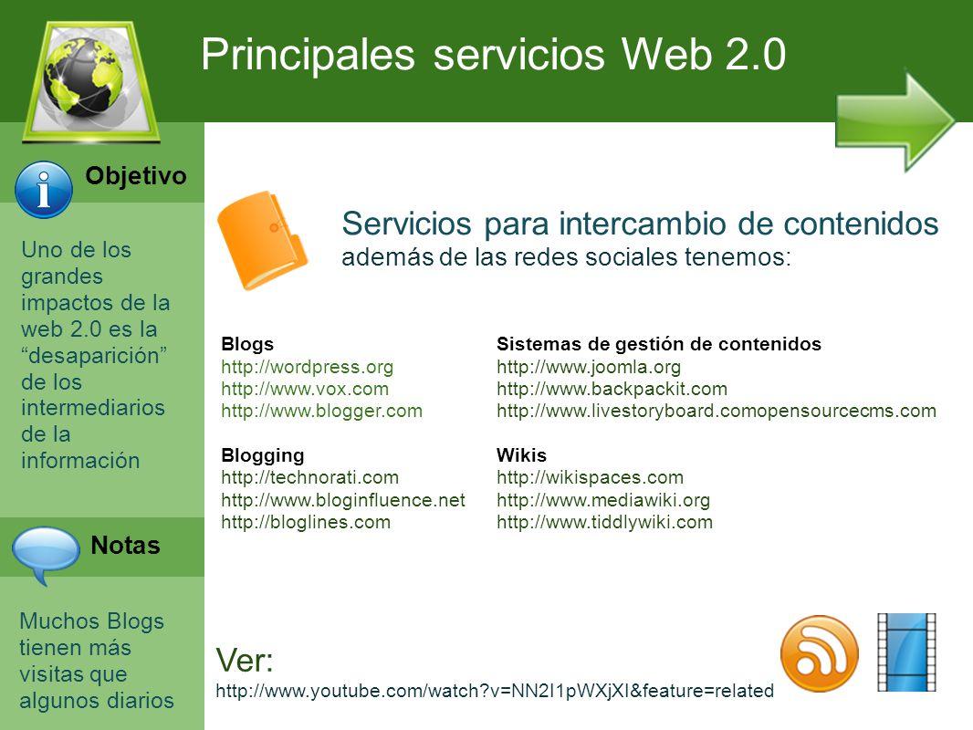 Principales servicios Web 2.0