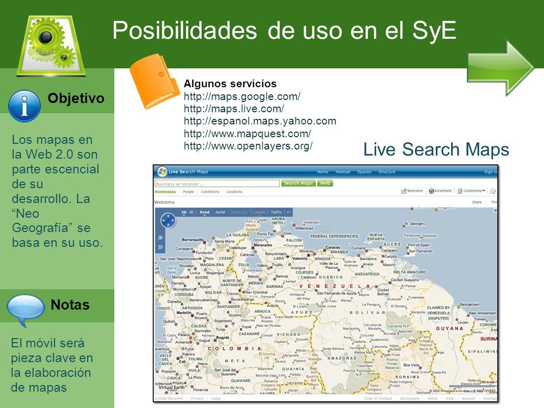 Posibilidades de uso en el SyE