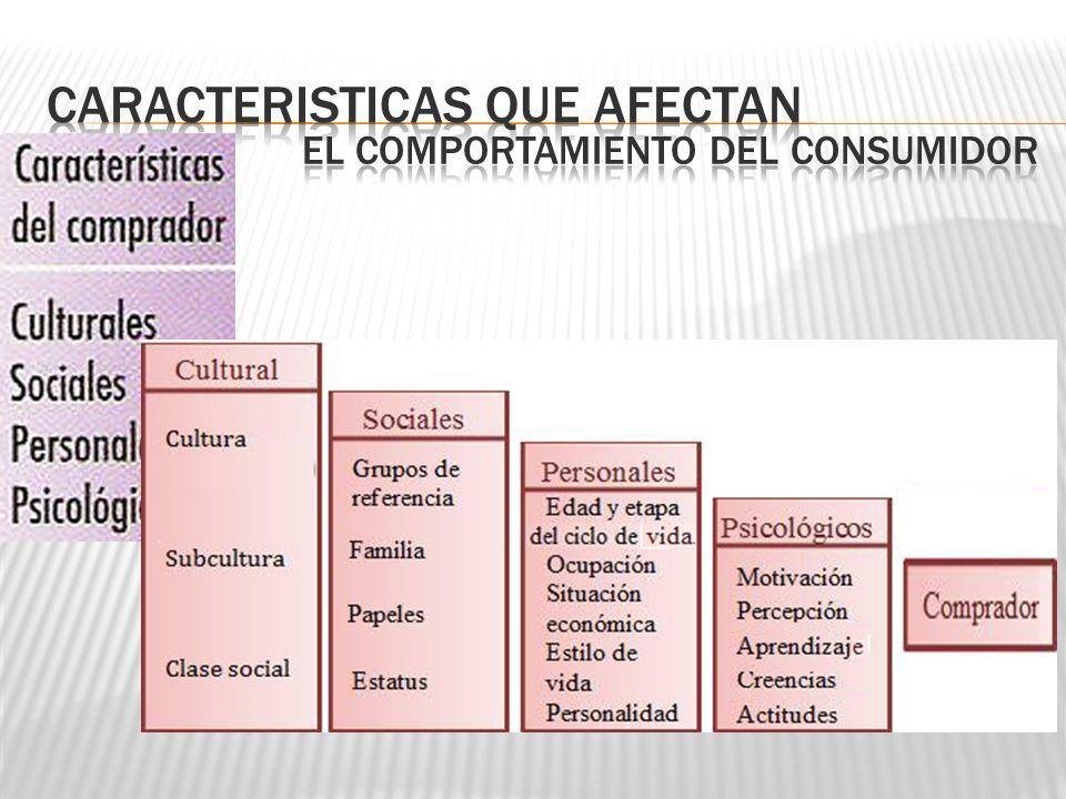 Caracteristicas que afectan