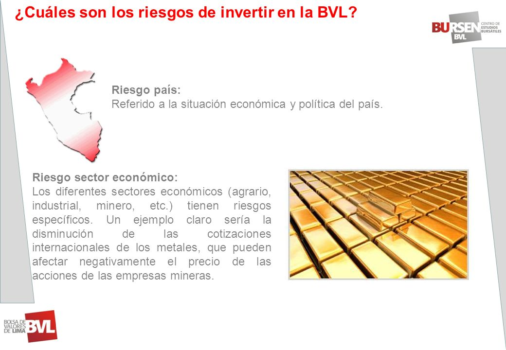 ¿Cuáles son los riesgos de invertir en la BVL
