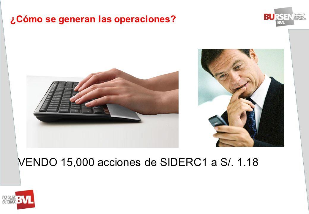 VENDO 15,000 acciones de SIDERC1 a S/. 1.18