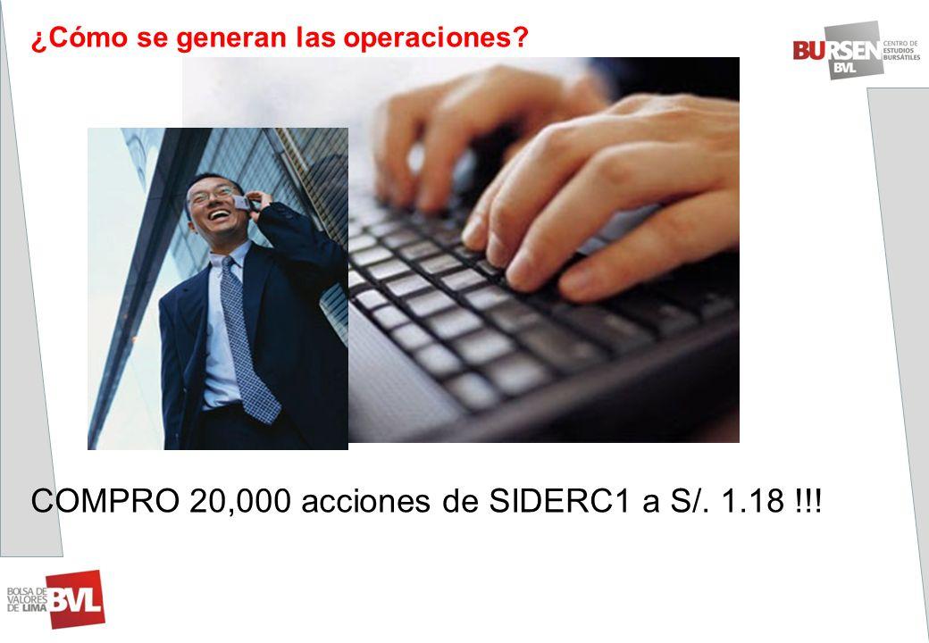 COMPRO 20,000 acciones de SIDERC1 a S/. 1.18 !!!