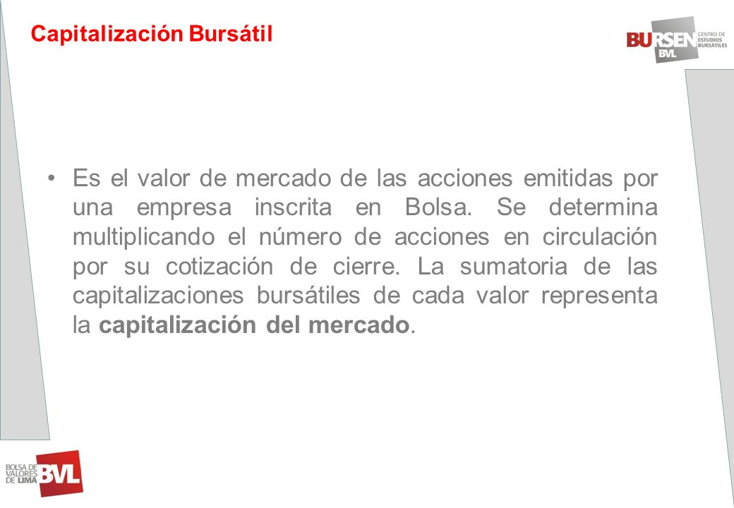 Capitalización Bursátil