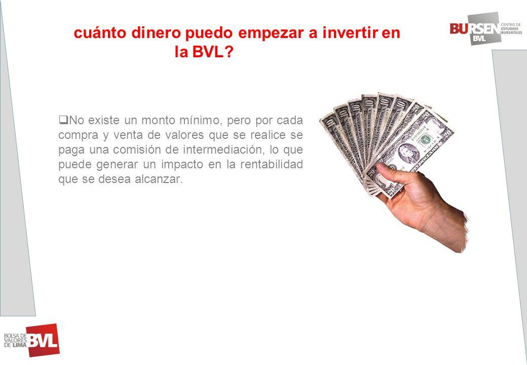 ¿Con cuánto dinero puedo empezar a invertir en la BVL cuánto dinero puedo empezar a invertir en la BVL