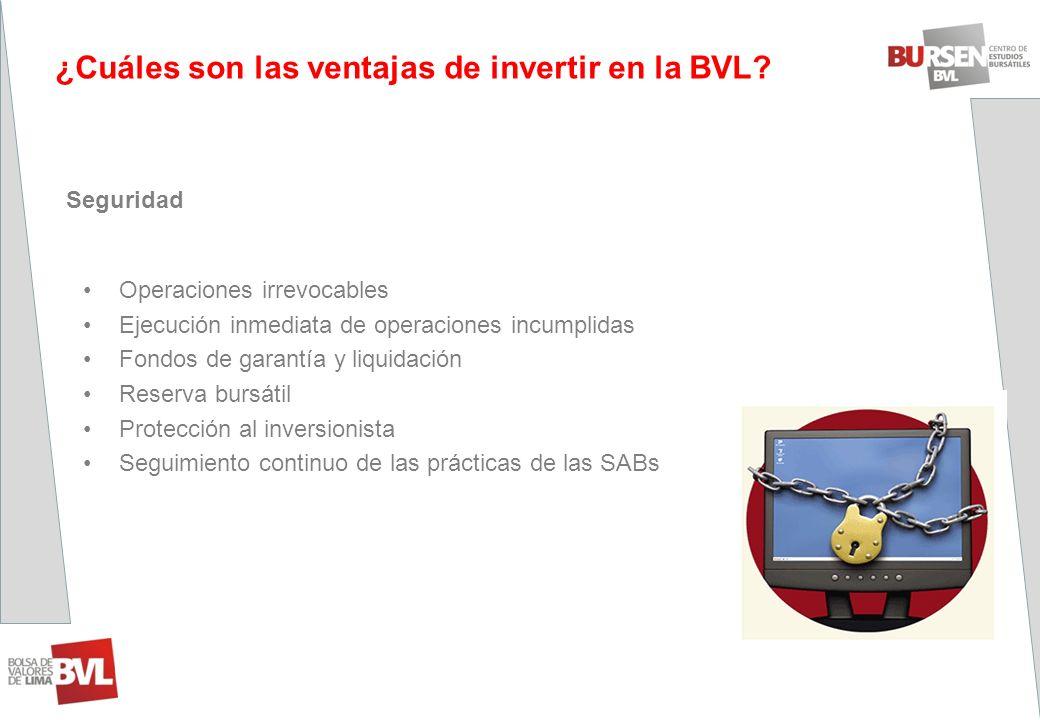 ¿Cuáles son las ventajas de invertir en la BVL