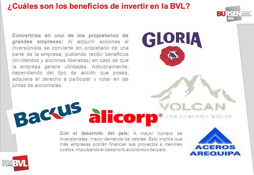 ¿Cuáles son los beneficios de invertir en la BVL