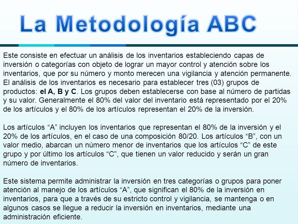La Metodología ABC
