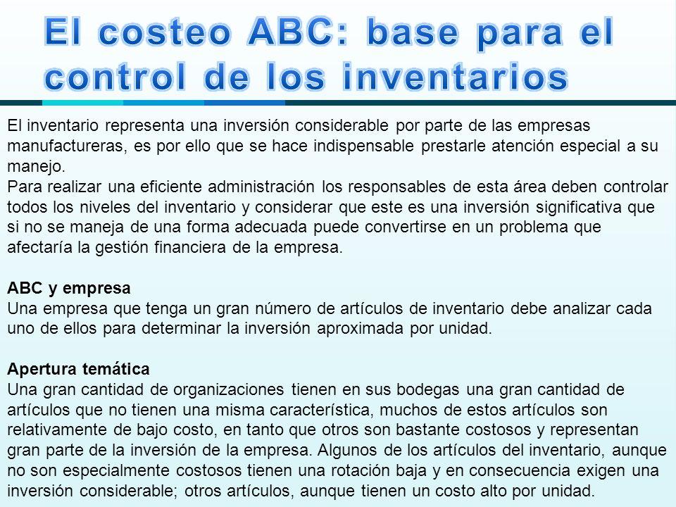 El costeo ABC: base para el control de los inventarios