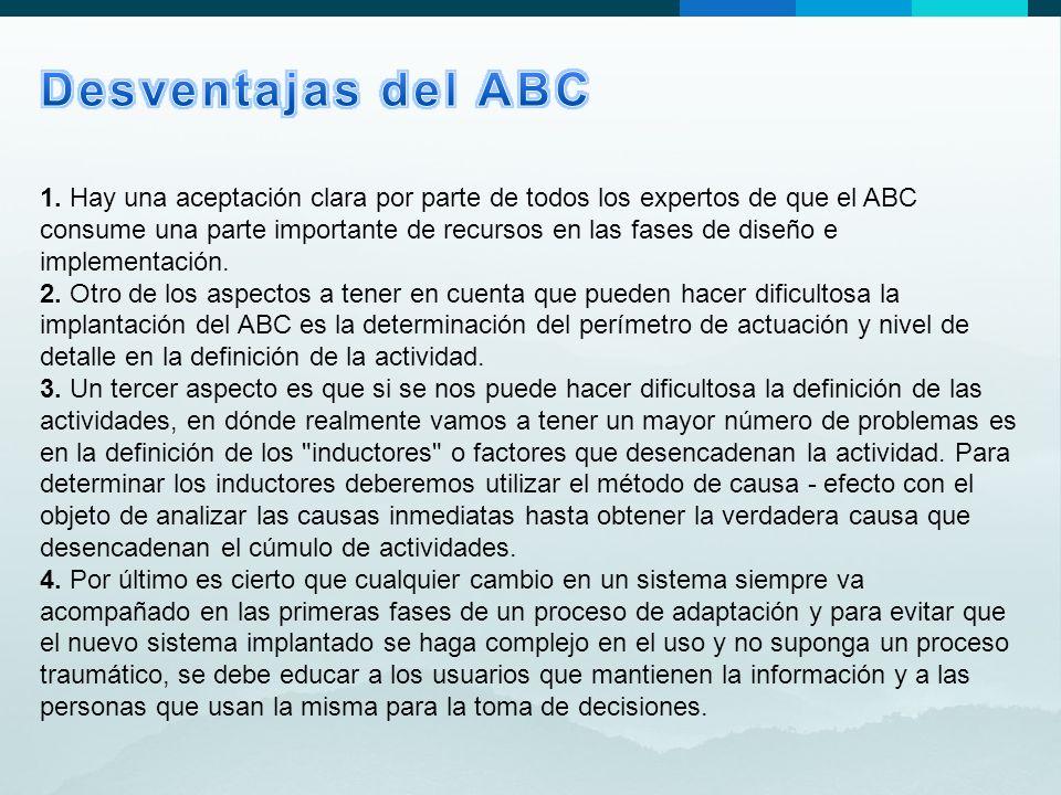 Desventajas del ABC