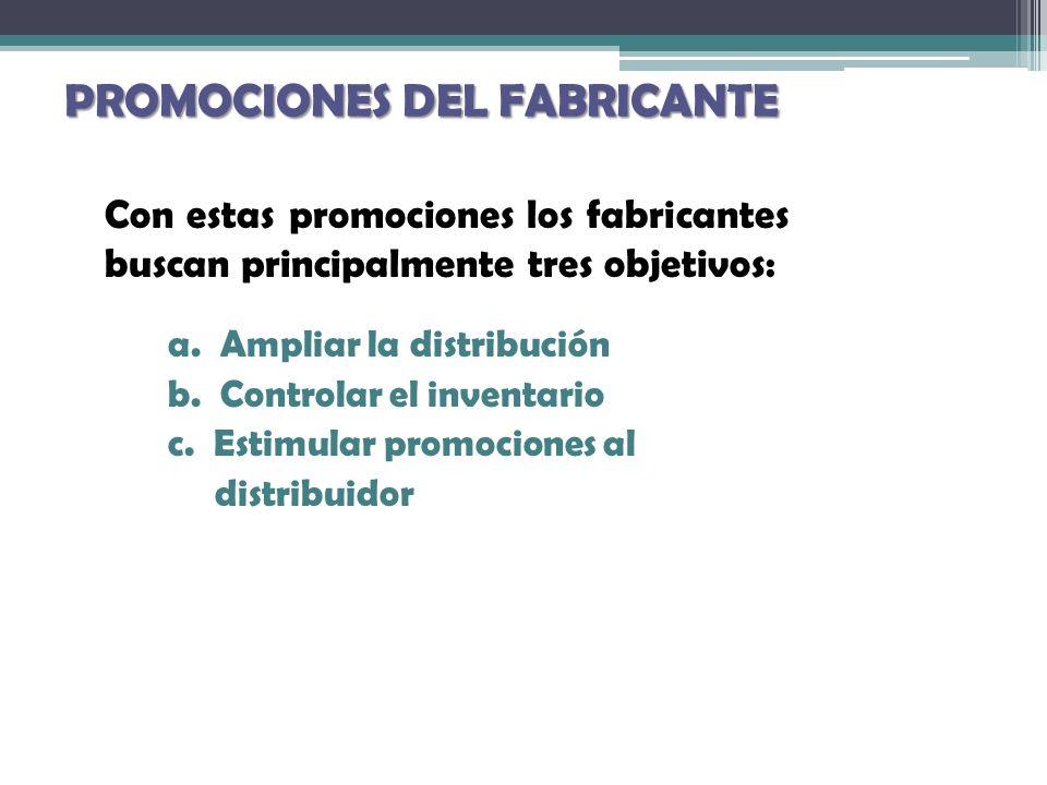 PROMOCIONES DEL FABRICANTE