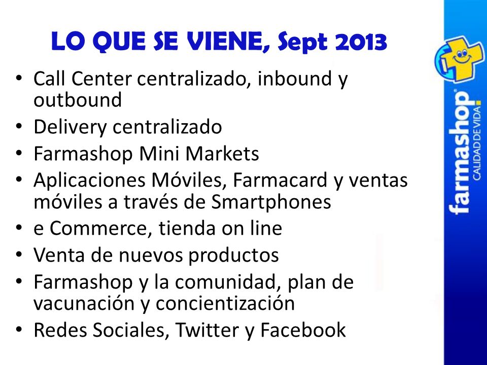 Call Center centralizado, inbound y outbound Delivery centralizado