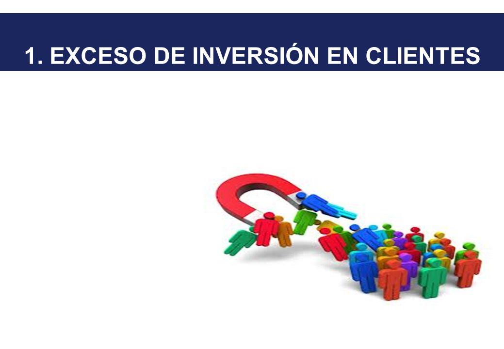 1. EXCESO DE INVERSIÓN EN CLIENTES