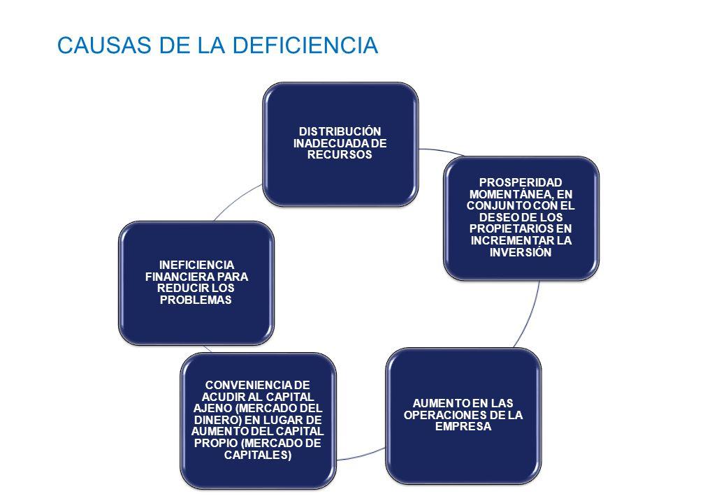 CAUSAS DE LA DEFICIENCIA