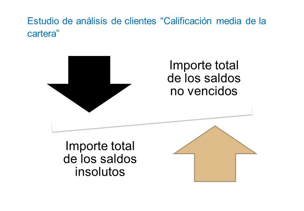 Estudio de análisis de clientes Calificación media de la cartera